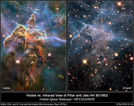 NASA发布最新太空照 宇宙星云仙境