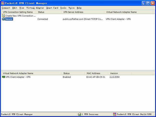 日本免费翻墙VPN代理PacketiX安装使用教程