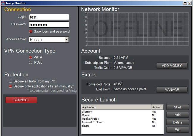 新的国外免费VPN客户端-Ivacy Monitor