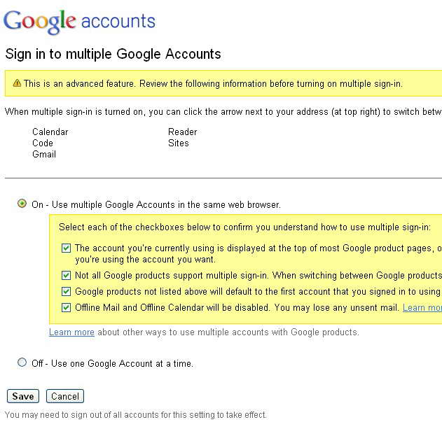 gmail正式推出多帐户同时登录(附开启方法)