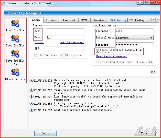 好用的免费SSH客户端-Tunnelier使用教程