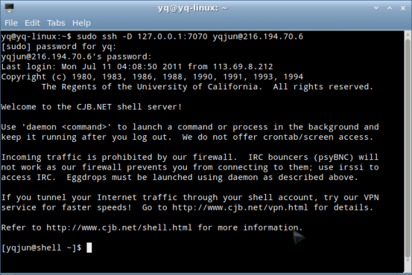 linux+firefox+ssh+autoproxy 翻墙之小白教程