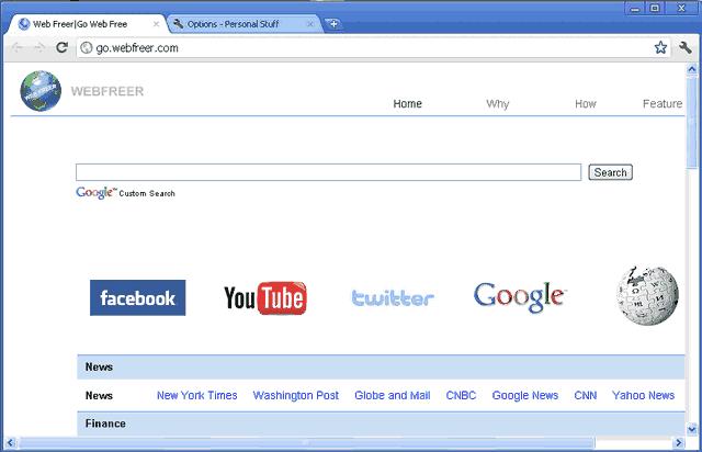 WebFreer:一款新的翻墙浏览器