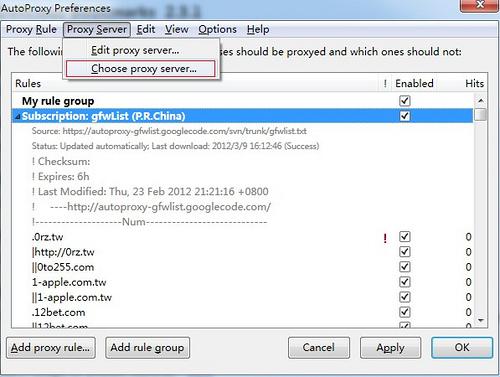 Bitvise Tunnelier SSH+Firefox+ AutoProxy翻墙